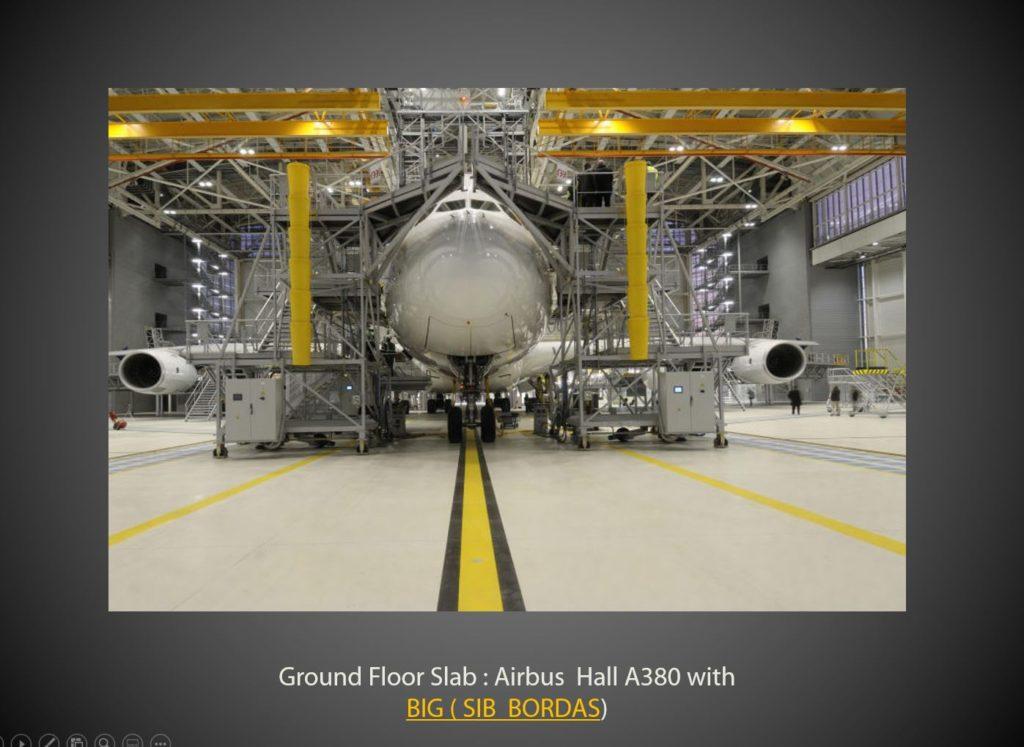 AMOCER IDF est intervenu sur la contruction des différents halls Airbus avec son client BIG Sib Bordas